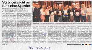 Bergische Landeszeitung vom 23.04.2016